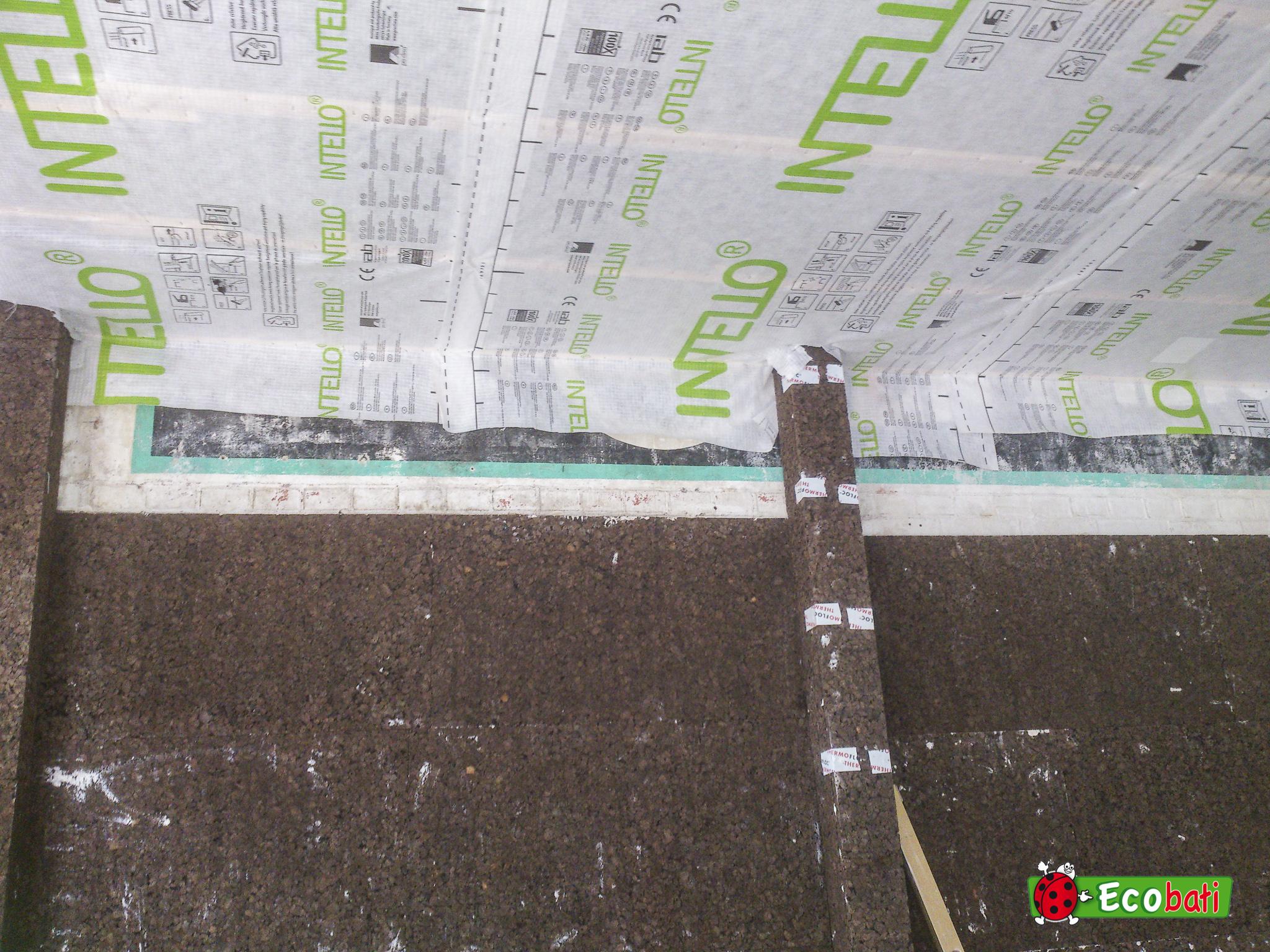 chantier avec isolation en li ge pour le thermique et l. Black Bedroom Furniture Sets. Home Design Ideas